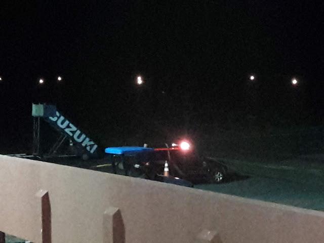 Viatura da Polícia Federal no pátio do Aeroporto de Parnaíba