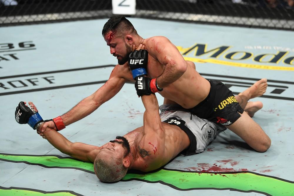 Jussier Formiga venceu Deiveson Figueiredo no UFC Nashville, em março deste ano — Foto: Getty Images .