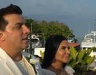 Com direito a chegada de barco, Gretchen se casa pela 18ª vez em Belém