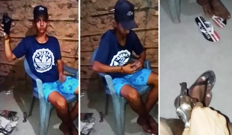 Vídeo mostra jovem que estava desaparecido cercado por desafetos (Reprodução/ Redes Sociais)