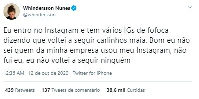 Post de Whindersson