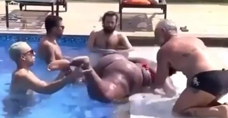 A Fazenda 12: Jojo Todynho passa perrengue para sair da piscina; vídeo - Imagem 1