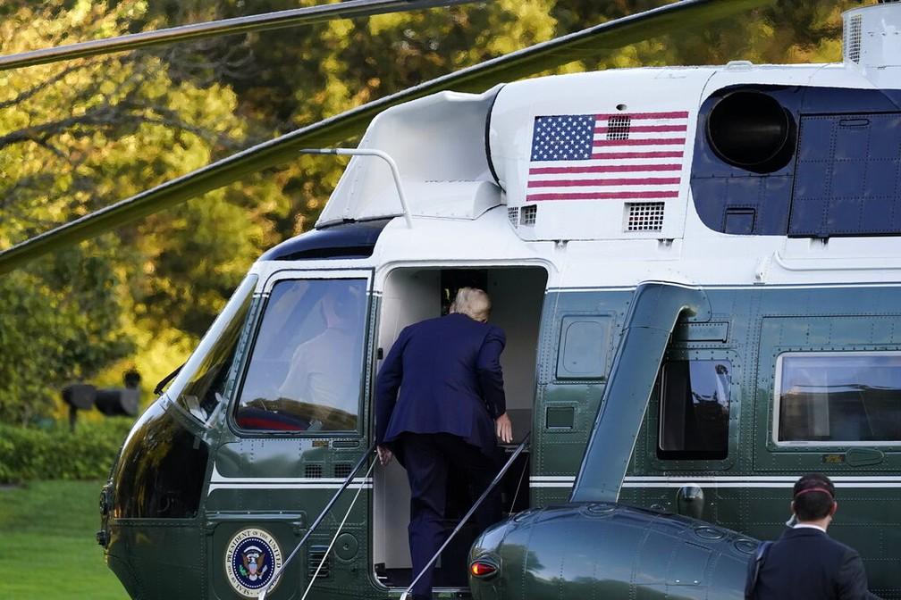 Com covid-19, Donald Trump é levado para hospital Foto: AP Photo/Alex Brandon