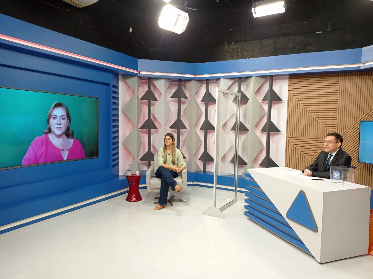 Gessy Fonseca é sabatinada por outros candidatos no Jornal Agora - Imagem 6