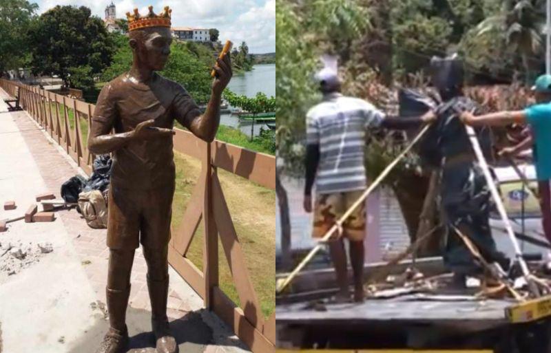 Moradores impedem instalação de estátua de Carlinhos Maia em cidade - Imagem 2