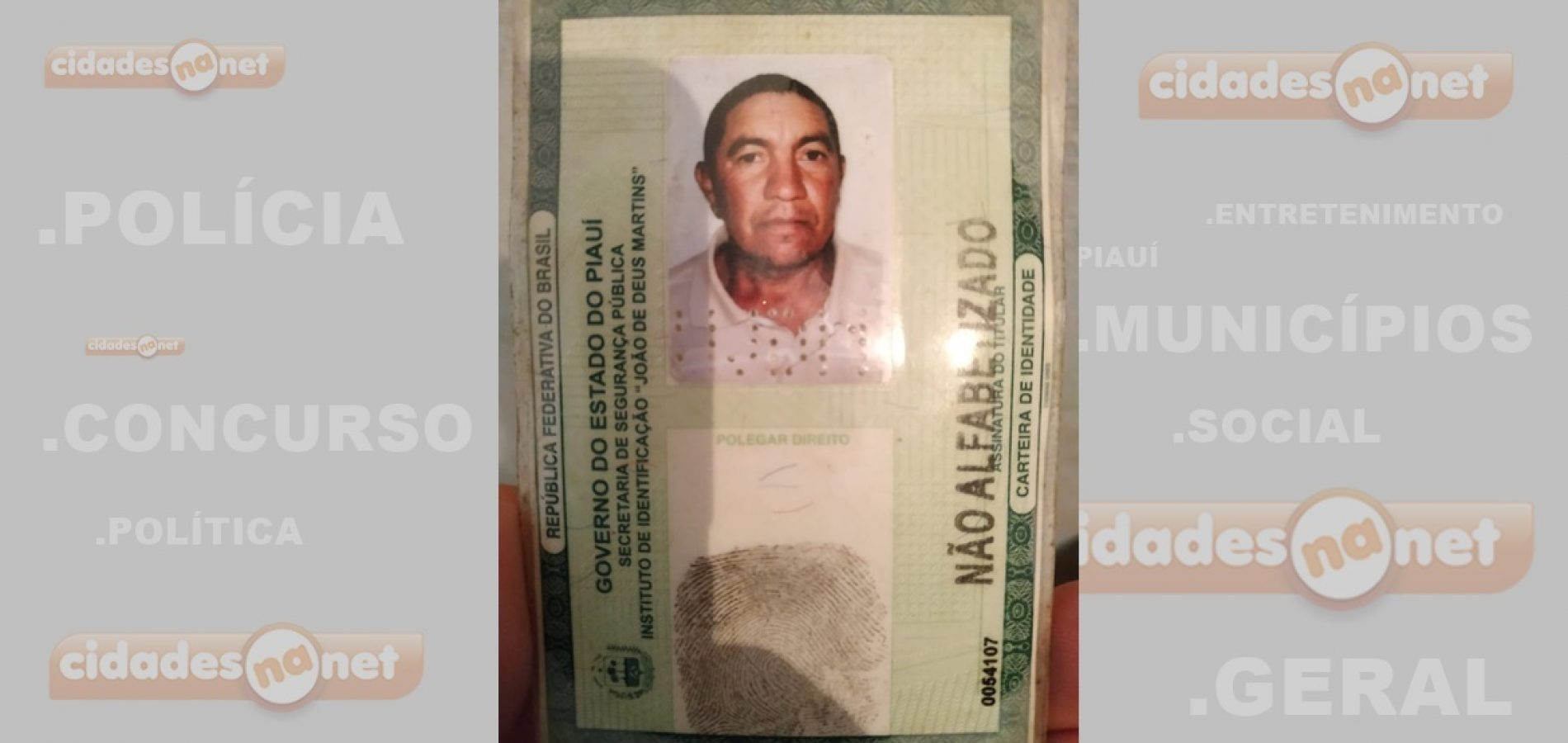 Homem é encontrado morto dentro da sua própria residência no Piauí - Imagem 1