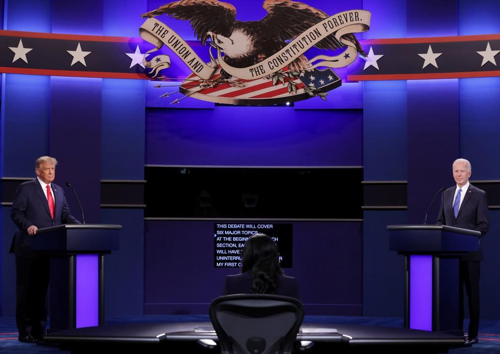 Em debate mais contido, Trump e Biden divergem sobre pandemia