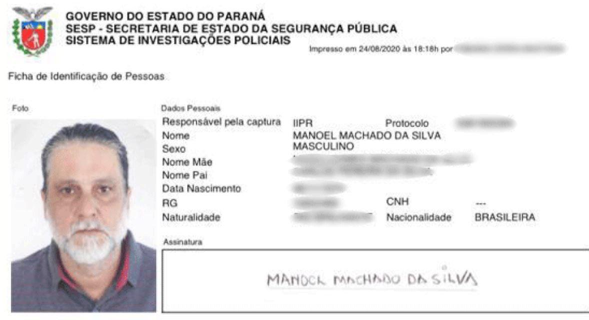 Documentação falsa de Paulo Cupertino