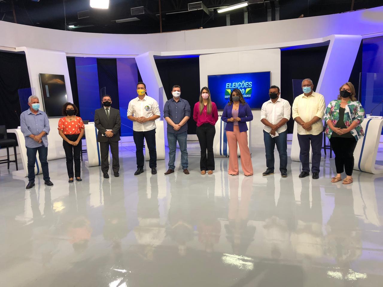 Nove dos 13 candidatos à prefeitura de Teresina participaram do debate realizado pela Rede MN - Fotos: Raíssa Morias
