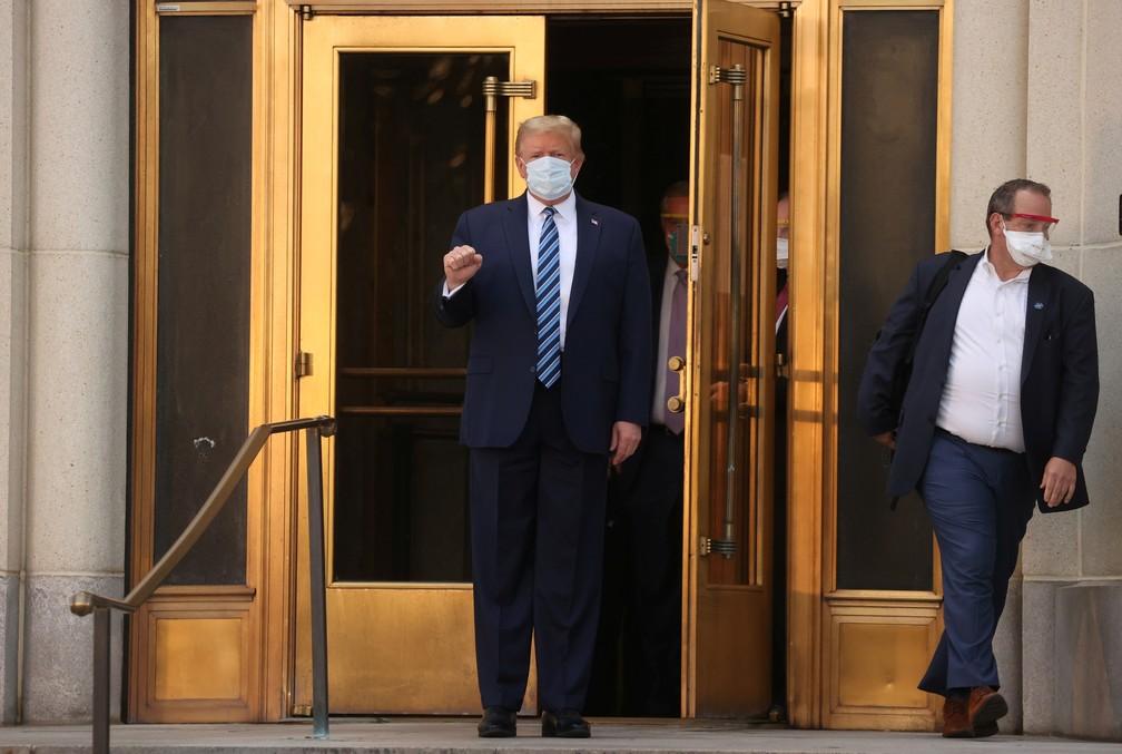 Trump recebeu alta nesta segunda-feira (5)