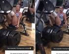 Juju Salimeni choca fãs ao levantar 500 kg em treino de perna; vídeo