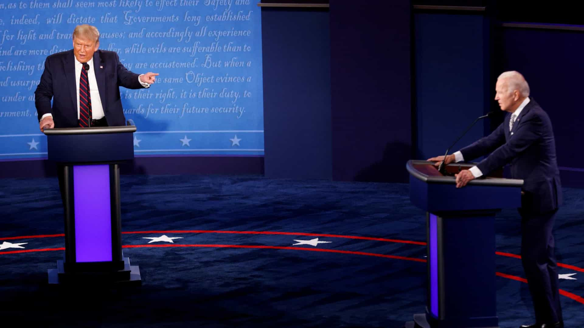 Trump se recusa debate online com Biden