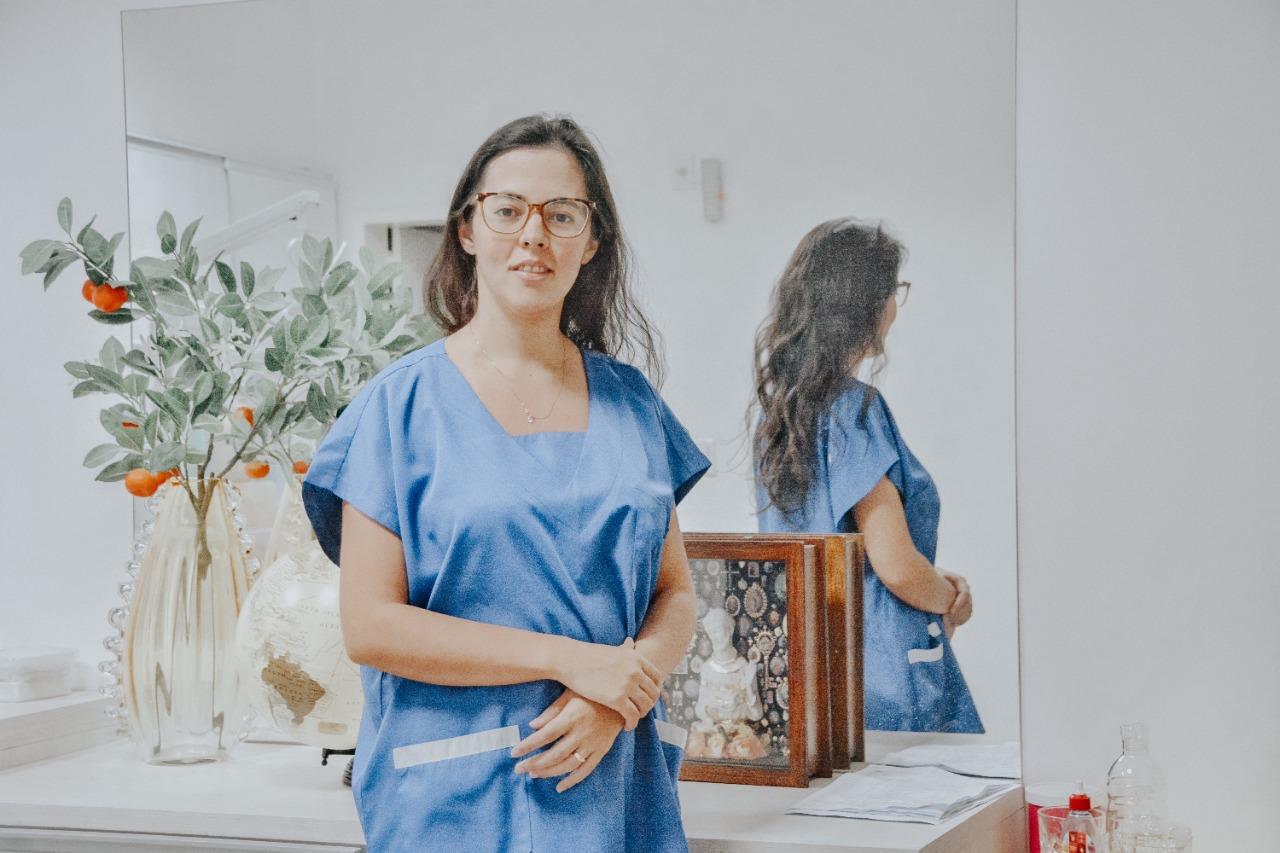 Dra. Walda Eulálio Santos, médica oftalmologista. Crédito: Raíssa Morais.