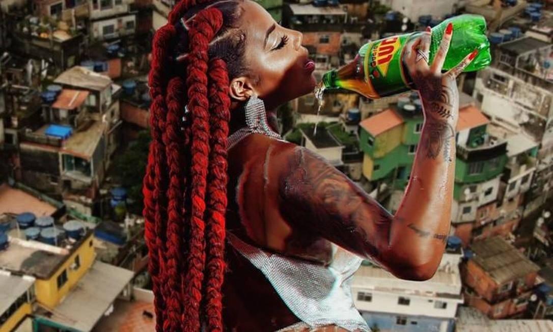 """A capa do single """"Rainha da favela"""", de Ludmilla Foto: Divulgação"""