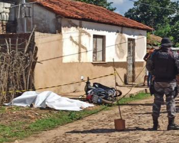 Local onde a jovem foi executada em Piripiri - Foto: Piripiri Repórter