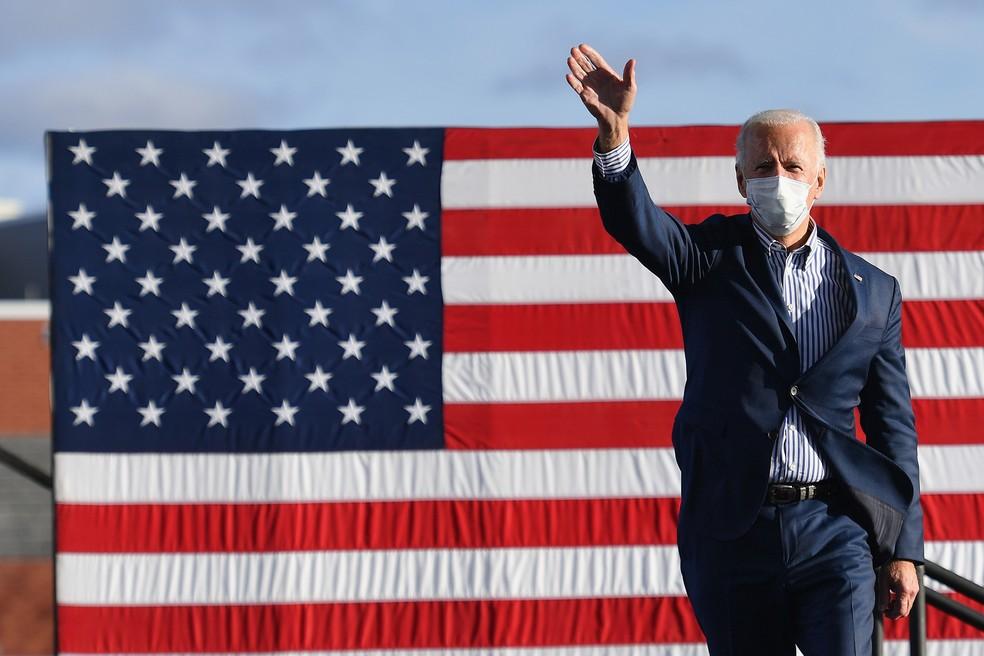 Joe Biden foi eleito o novo presidente dos EUA Angela Weiss/AFP