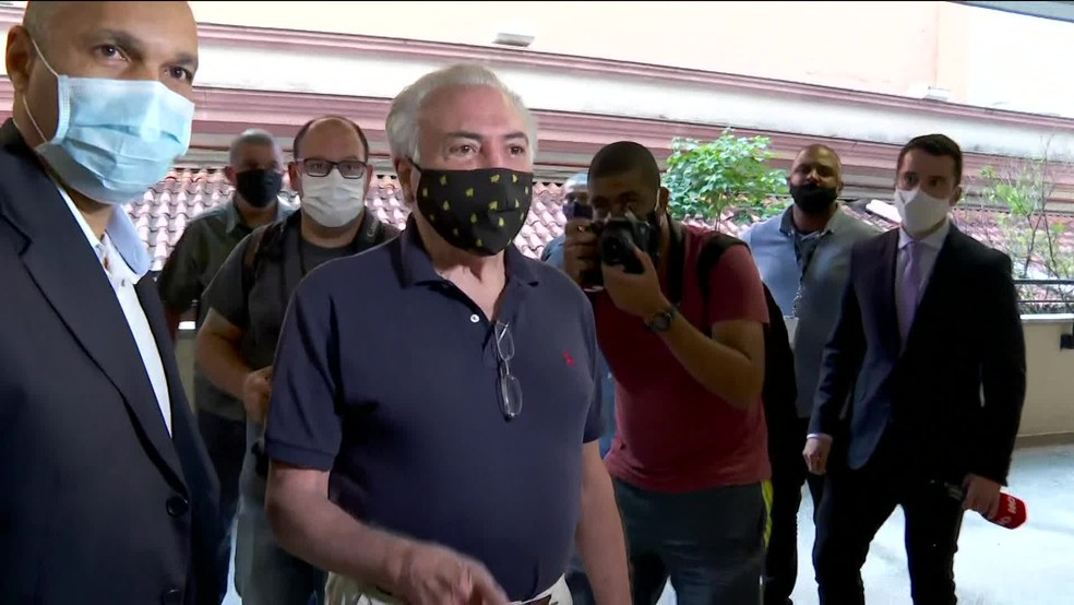 O ex-presidente Michel Temer (MDB) vota na PUC de SP— Foto: Kleber Tomaz/G1