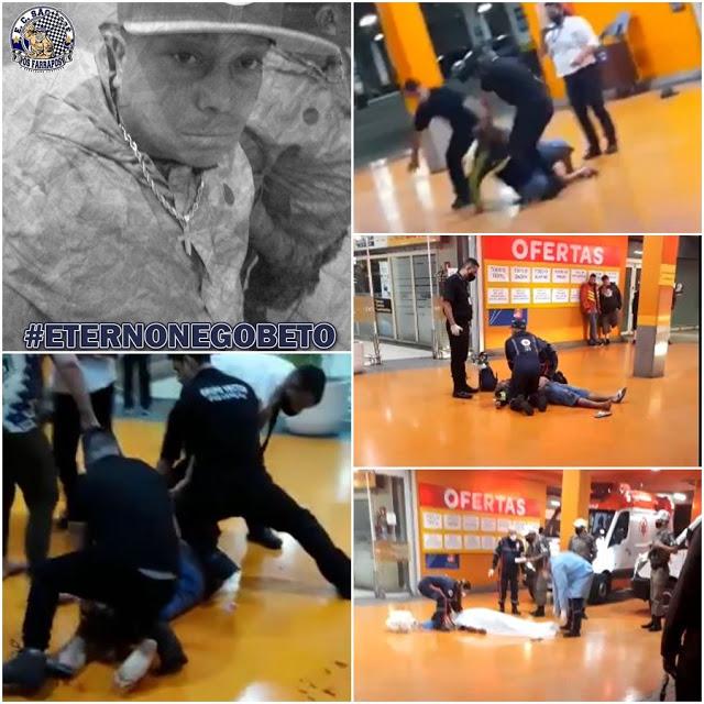 Imagens mostram o momento da agressao