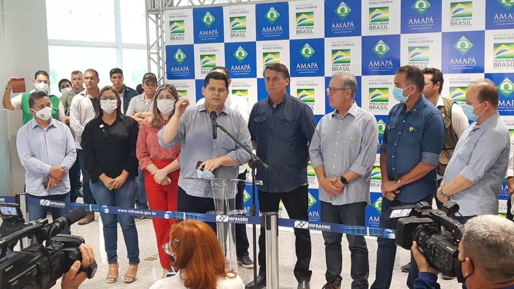 Jair Bolsonaro visitou o Amapá neste sábado Foto: John Pacheco/G1