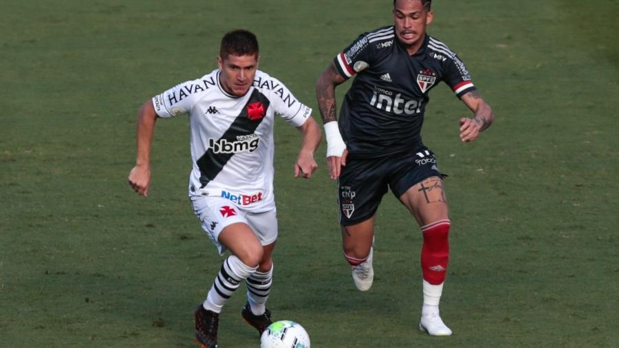 Sao Paulo e Vasco empataram em 1 a 1 - Foto: AGIF