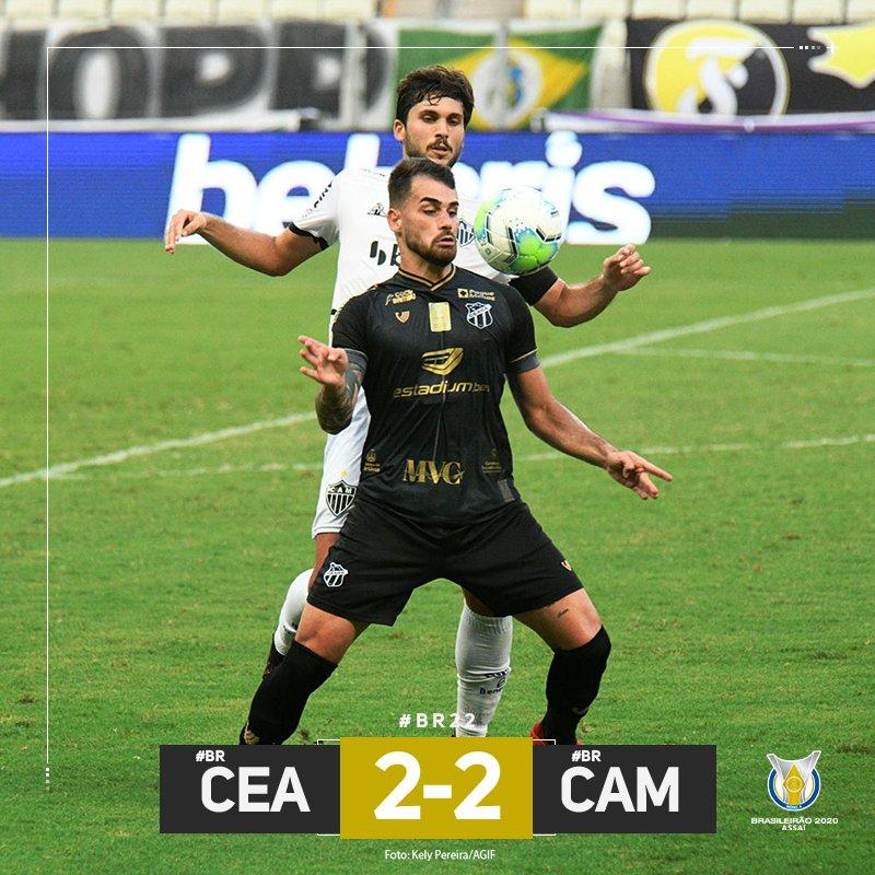 2 x 2: Atlético-MG empata contra Ceará lidera o Campeonato Brasileiro