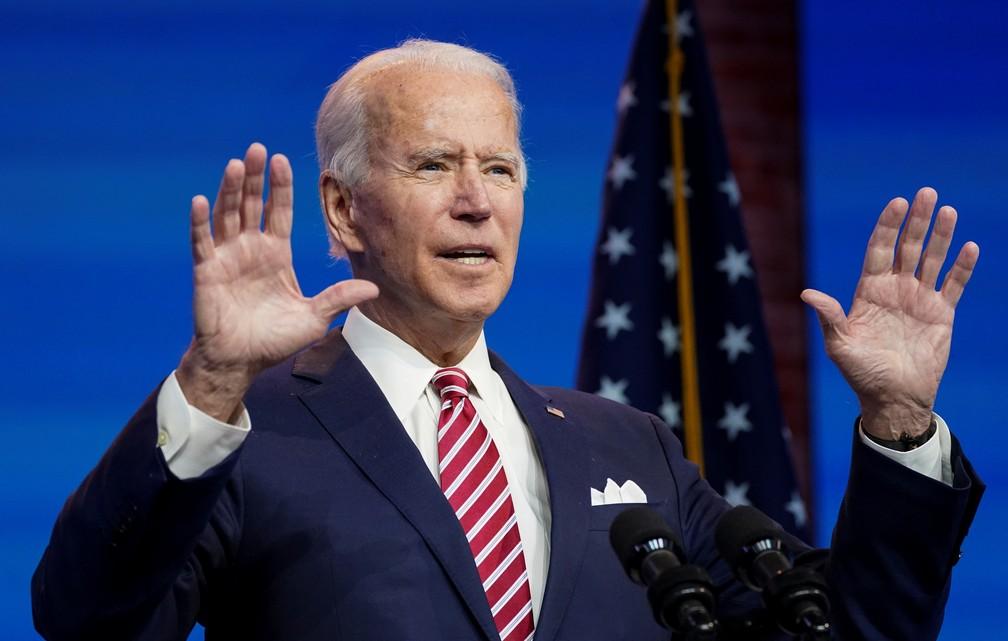 Joe Biden foi eleito presidente dos EUA Foto: Reuters
