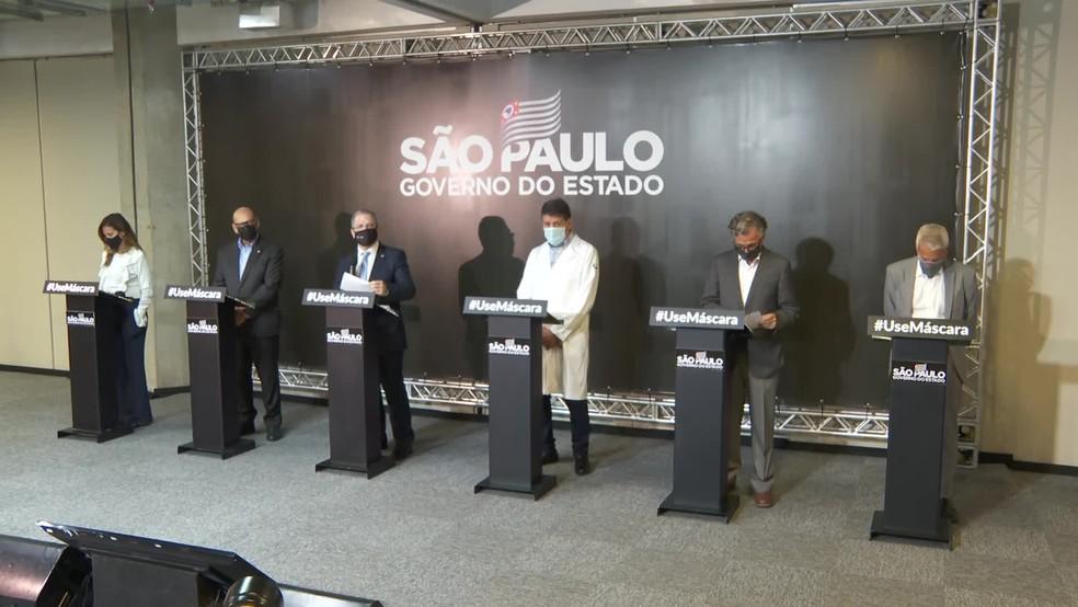 Coletiva de imprensa sobre os avanços da CoronaVac em SP