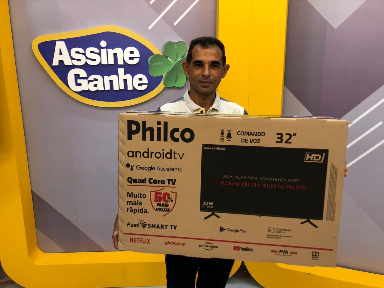 Alonso Dias Ferreira foi o contemplado com uma Smart TV