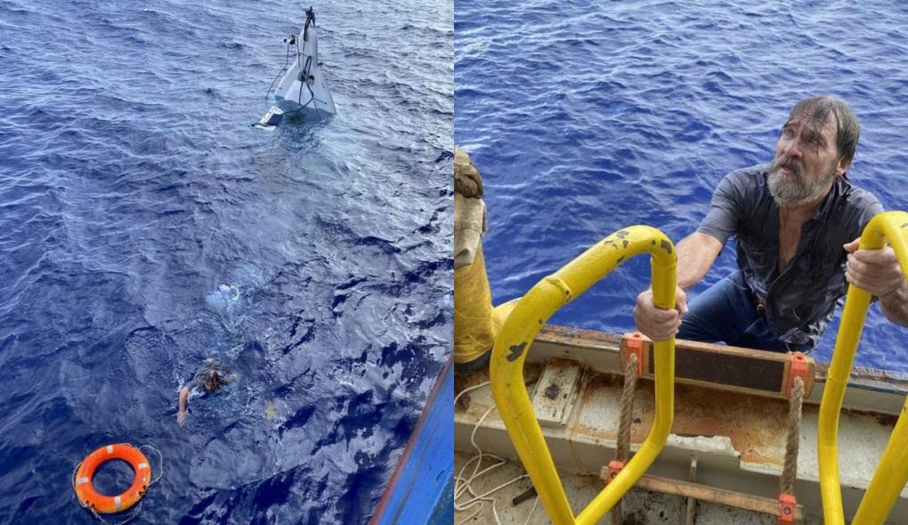 Marinheiro de 62 anos desaparece e é achado vivo agarrado a barco