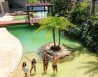 """Veja quanto custa a piscina com """"praia"""" e """"ilha"""" do Rodrigo Faro"""