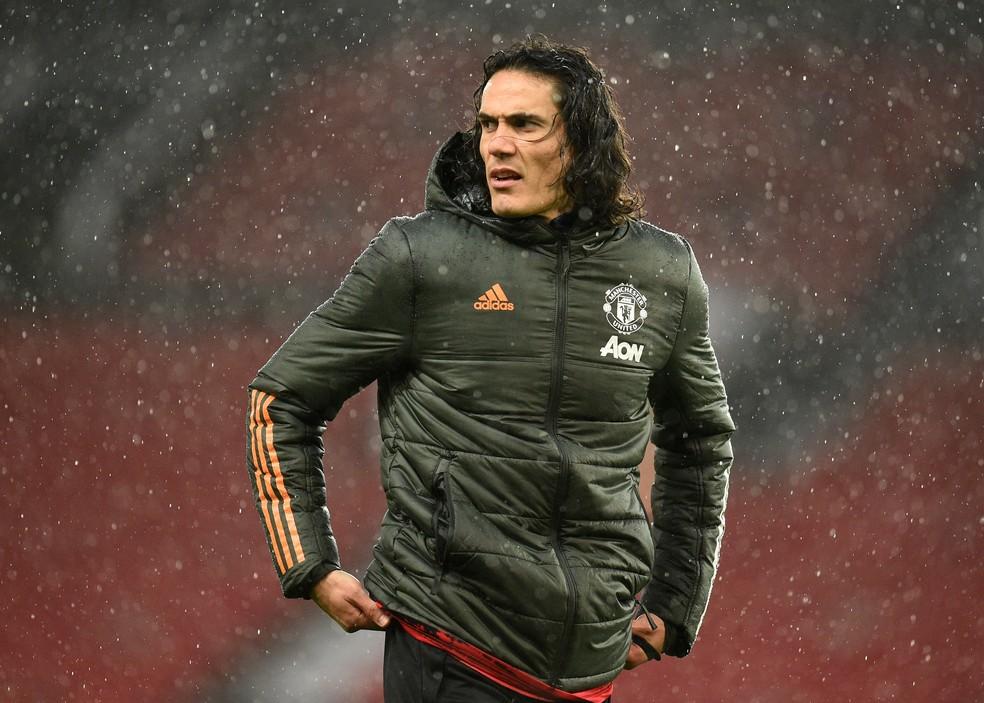 Cavani ainda não jogou como titular pelo United — Foto: Getty Images