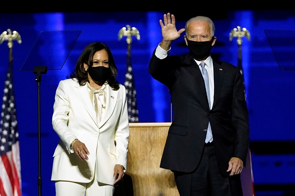 Kamala Harris e Joe Biden — Foto: Reuters