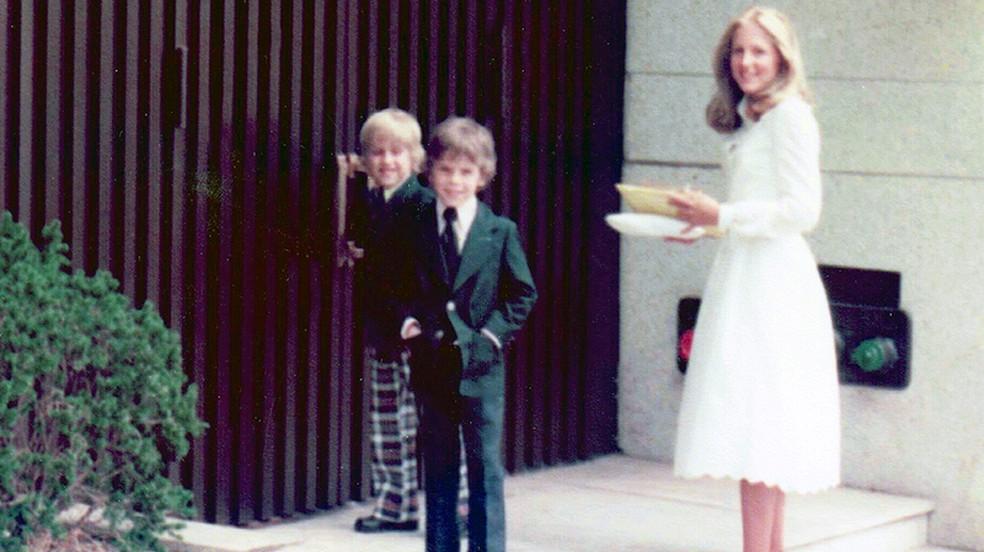 Joe com os filhos Beau (à esquerda) e Hunter e Jill