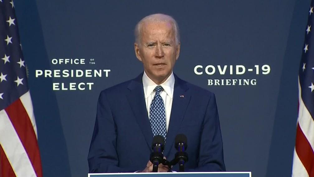 Joe Biden, discursa nesta segunda-feira (9)