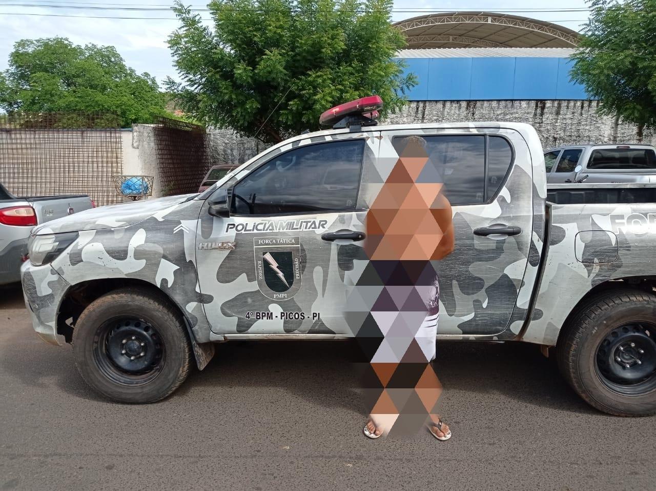 Suspeito foi encaminhado à Central de Flagrantes de Picos (Divulgação)