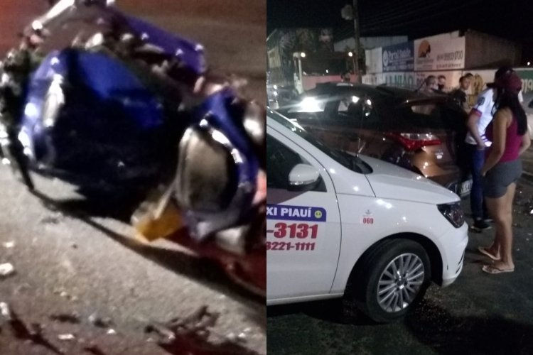 Veículos envolvidos no acidente (Reprodução)