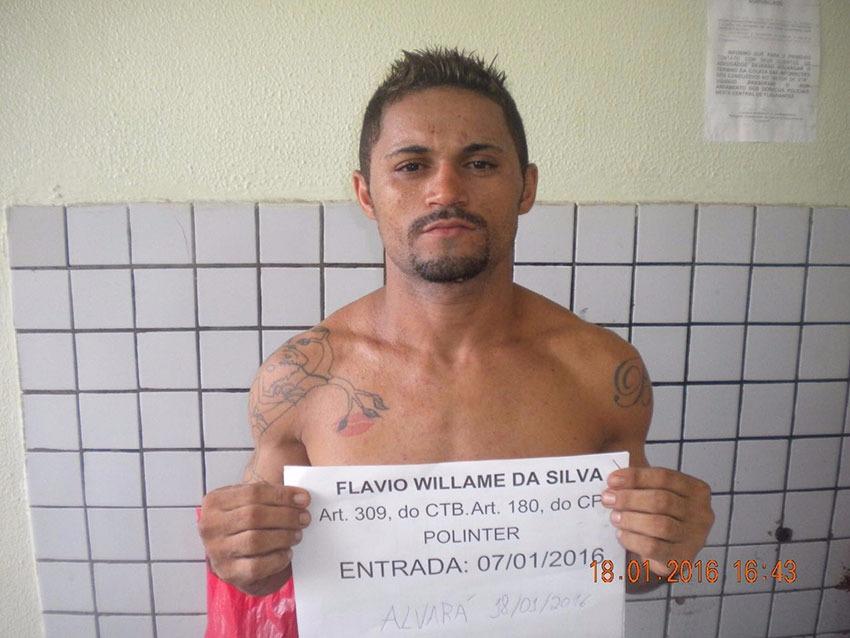 Flavio Willame da Silva, apontado como autor dos disparos que matou o cabo Claudemir
