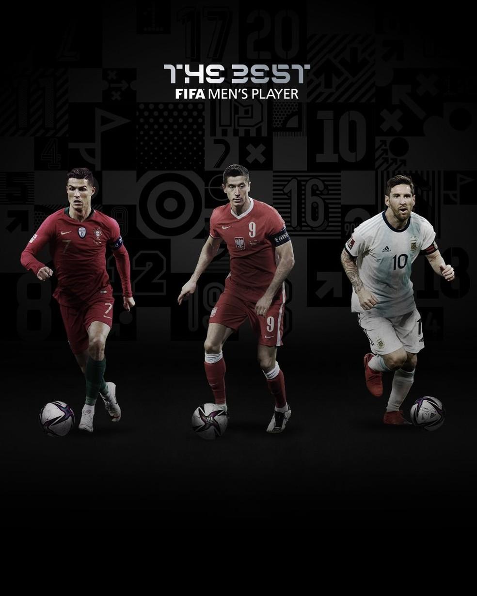 Cristiano Ronaldo, Lewandowski e Messi finalistas do prêmio de melhor do mundo Fifa The Best