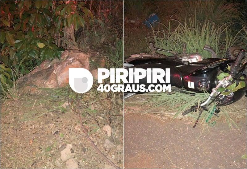 Motociclista morre após perder o controle do veículo em Piripiri-Foto: Piripirir 40 graus