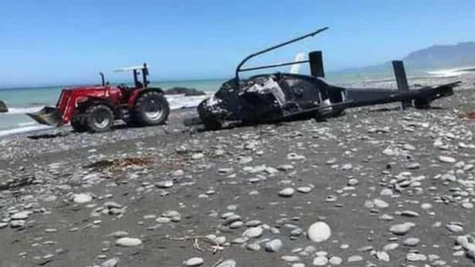 Pais morrem em queda de helicóptero em voo com filhos na Nova Zelândia