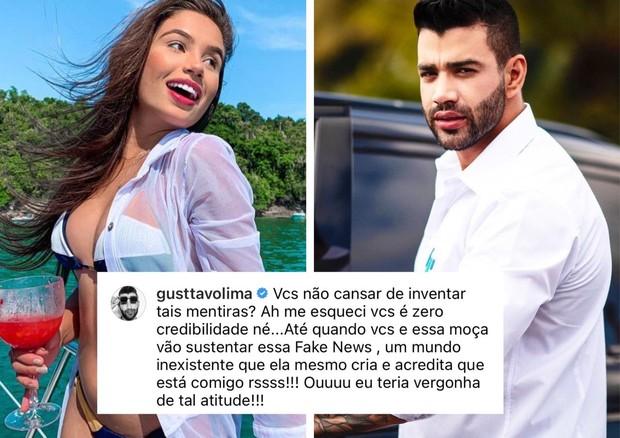 """Gusttavo Lima nega affair e culpa modelo por """"inventar fake"""" - Imagem 1"""