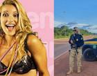 Agente da PRF,  ex-loira do É o Tchan aparece com fuzil na web