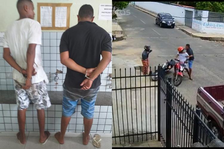 Dupla é presa após realizar assalto a mulher na zona Sul de Teresina (Reprodução)