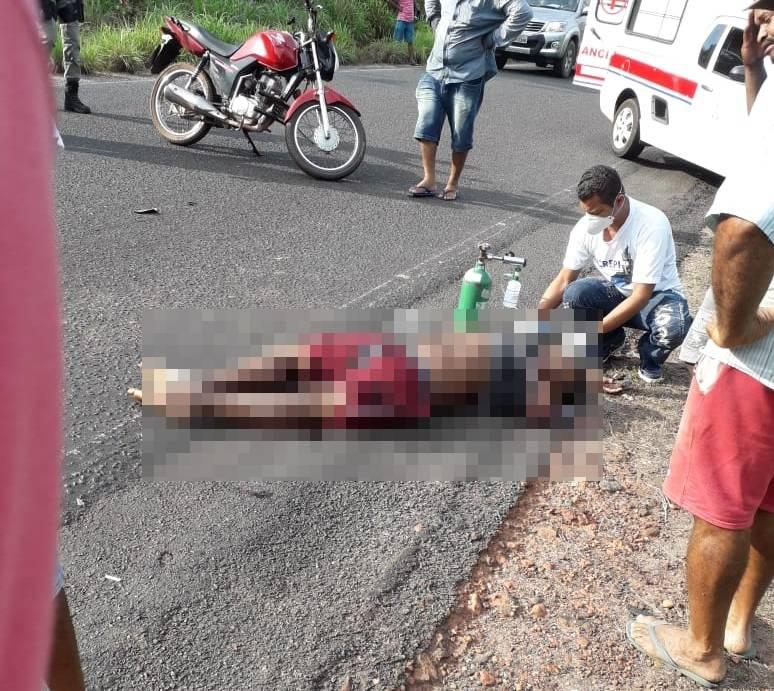 Vítima chegou a ser socorrida com vida, mas não resistiu aos ferimentos e morreu no HUT (Reprodução)