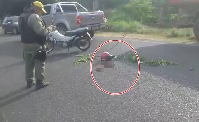 Vítima teve um braço arrancado no acidente (Reprodução)