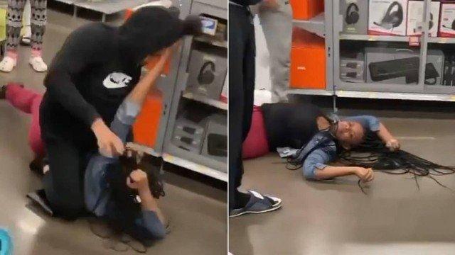 Clientes brigam pelo último PS5 em loja (Foto: reprodução)