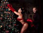 """Gracyanne Barbosa """"monta"""" árvore de Natal em clima quente com Belo"""
