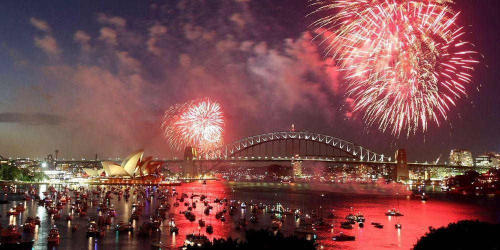 A Austrália também já celebra 2021 às 10h (horário de Brasília)- Foto: TORSTEN BLACKWOOD AFP