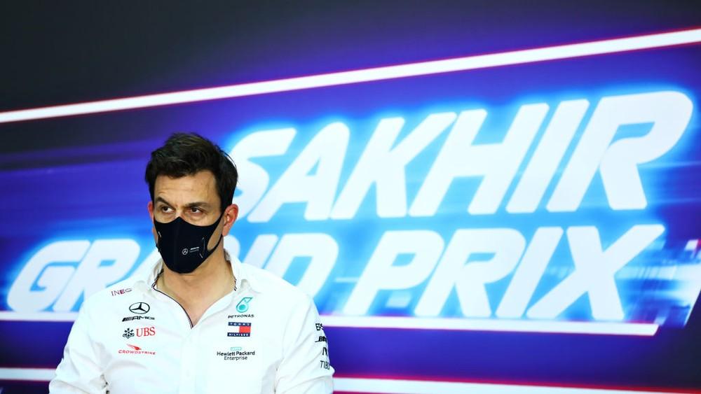 Toto Wolff, chefe da Mercedes, no GP de Sakhir