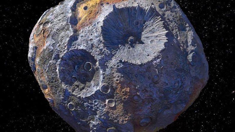 O asteroide 16 psique (Foto: Nasa)